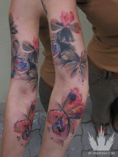 Tattoo by Ondrash @Melissa Squires Haenke  this is kind of the look I'm going for, just smaller and on my side not my arm
