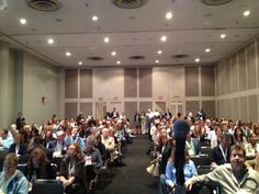 """[Spotted on Twitter] HOW TO MARKET A BOOK co-author @Lori Culwell before her presentation, """"Our awesome audience!"""" >>> #BEA2013"""