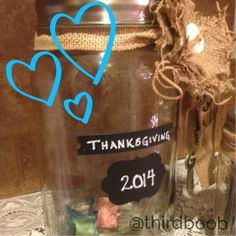 the third boob: thankful jar
