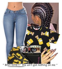 """""""She ain't got nothing on me"""" by slayed-fashion ❤ liked on Polyvore featuring NIKE"""