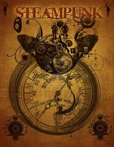 Steampunk Poster by NightstreetDreamer