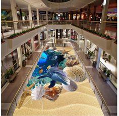 Фото пол обои 3d стереоскопический океан дельфин Водонепроницаемый пол роспись Пользовательского Фото самоклеящиеся 3D пол