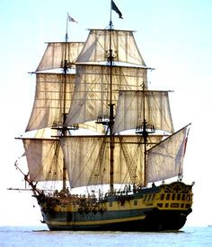 Grand Turk, Replica Frigate -- built in 1997, used as the HMS Indefatigable in the Hornblower series. Recently sold.
