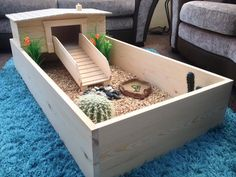 indoor tortoise habitat. loki would lovee this. <3