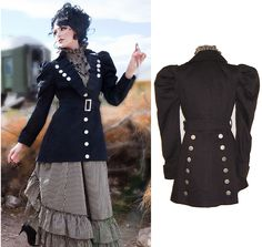 Victorian Ladies Jacket | Victorian Riding Coat Ladies victorian military