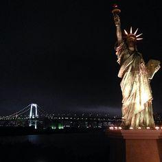 Tokyo bay by night #reflex #ladyliberty #bridge #light