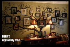 family tree wall = LOVE THIS!