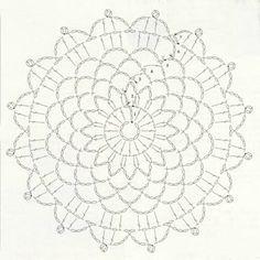 Anabelia craft design: 15 minutes made crochet doilies, free pattern Crochet Doily Diagram, Crochet Mandala Pattern, Crochet Circles, Crochet Doily Patterns, Crochet Art, Crochet Round, Love Crochet, Crochet Doilies, Crochet Flowers
