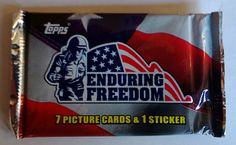 ENDURING FREEDOM Trading Cards From Topps 2001 one New Unopened Foil Pack