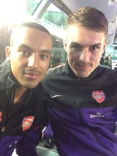 Theo Walcott and Aaron Ramsey! Arsenal players, they are just perfect! Arsenal Players, Arsenal Fc, Football Soccer, Football Players, Theo Walcott, Sport Man, One Team, Fc Barcelona, Arsenal F.c.