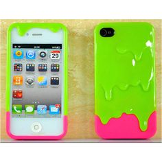 OMG!! That's so me! Neon green and pink iphone case :)) wish list!
