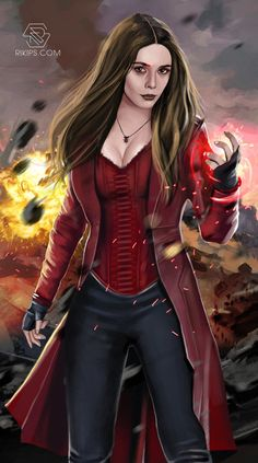Scarlet Witch a.k.a Wanda Maximoff , Marvel Character Painting to Welcoming Avenger Infinity War Coming in April 2018. Done In Photoshop CS6 & Intuous 5