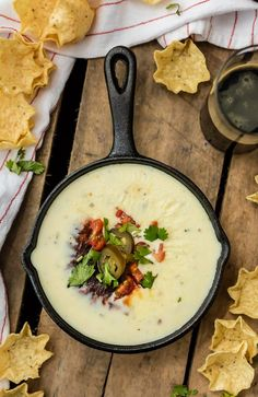 This EASY WHITE QUESO RECIPE (EASY QUESO BLANCO) is our favorite white queso dip recipe, EVER. This easy white cheese dip recipe creates a creamy dip that tastes just like the queso at your favorite Mexican Restaurant. If you've ever wanted to know how to make queso on the stove...this recipe is for you! No velveeta, just real quality cheese and ingredients melted together and ready to dip.