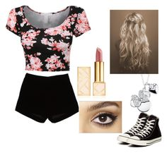 """""""Untitled #89"""" by magy662520 ❤ liked on Polyvore featuring Andrew Gn, Converse, Disney, Tory Burch and Charlotte Tilbury"""
