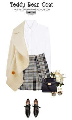 """""""Snuggle Up: Teddy Bear Coats"""" by palmtreesandpompoms ❤ liked on Polyvore featuring Victoria, Victoria Beckham, Burberry, H&M, Carolina Herrera, STELLA McCARTNEY and Tory Burch"""