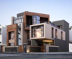 Best Modern House Design, Modern Exterior House Designs, Exterior Design, Residential Building Design, Architecture Building Design, Architecture Interiors, 3 Storey House Design, Bungalow House Design, Modern House Facades