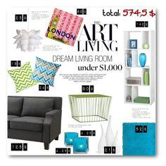 """Living Room Under $1000"" by anitadz ❤ liked on Polyvore featuring interior, interiors, interior design, home, home decor, interior decorating, Simple by Design, CB2, Mitchell Gold + Bob Williams and Cultural Intrigue"