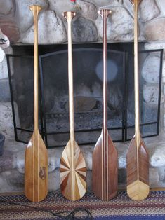 beautiful canoe paddles