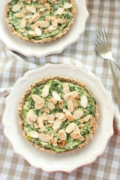 Grain-free spinach and ricotta tartlets