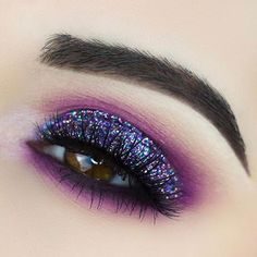 """8,771 Likes, 42 Comments - Smashbox Cosmetics (@smashboxcosmetics) on Instagram: """"Blue/purple shades from our Bold #CoverShotPalette + glitter pigment = sparkly inspo for days ✨.…"""""""