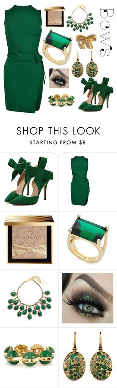 """""""Sexy in Green $$"""" by numeangeleyes on Polyvore featuring Dsquared2, Burberry, Kate Spade, Elizabeth Cole, Chloé and NOL Jewellers"""