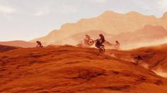 Desert riders coming down from the mountains.