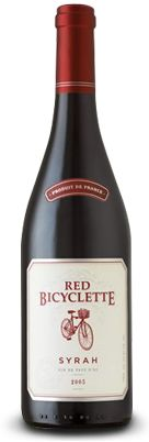 Red Bicyclette - Syrah   Pairs well with a variety of dishes, from savory fillet mignon and grilled pork chops to tomato-based pasta entrees, such as lasagna