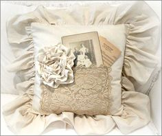 Подушки в стиле шебби-шик. Коллекция