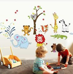 Class classroom arrangement wall stickers Wishing Tree Wish Tree growth Tree Decoration painting stickers Color 4 -- New offers awaiting you  : Nursery Decor