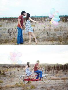 Love, balloons and bike
