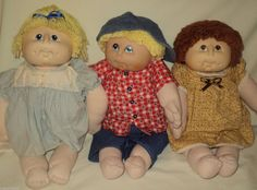 "1984 The Original Doll Baby M N Thomas 18"" Soft Body Lot of 3 Dressed Handmade 