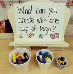 Preschool stem - This is a good example of parts and wholes with an informal learning experience The teacher chose the activity, but does not have a specific object they were asked to build School Age Activities, Steam Activities, Classroom Activities, Preschool Activities, Kindergarten Inquiry, Space Activities, Activities For Children, School Age Games, Primary Classroom Displays