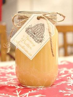 "honey butter ambrosia ~ ""1 cup honey, 1 cup cream, 1 cup sugar. bring to boil and boil for 1 minute. Pour over 3 sticks of butter, in the blender and blend ~ add 1 teaspoon vanilla and blend for second or two more. Pour into jars, (fills 2 pint sized jars with a little left over) refrigerate. Serve on toast, bread, or just warm it up and get a straw! Yes, it is THAT yummy!"""
