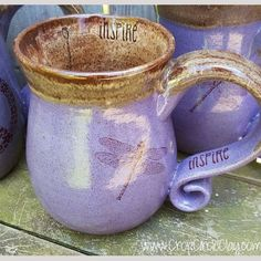 """MADE TO ORDER MUG. READY IN 12 WEEKS. HOLDS 12-14 OZ. DISHWASHER & MICROWAVE SAFE.  This listing is for a MADE TO ORDER """"Dragonfly""""coffee/tea mug that I throw on my potter's wheel. It is handmade by me."""