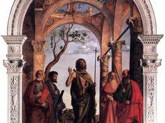 Giovanni Battista tra i santi Marco, Girolamo e Paolo