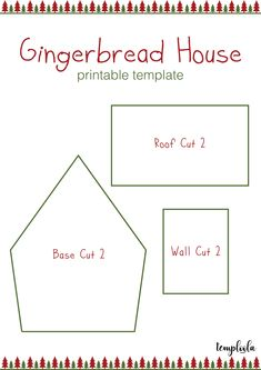 Gingerbread House Template Recipes To Cook Gingerbread