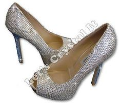 Swarovski Crystal High Heel Shoes (Send It To Us)