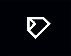 folded diamond Logo design - Strong logo brand suitable for jewelry and fashion. Price $450.00