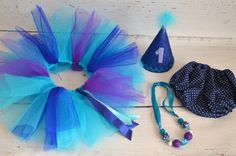 Purple and blue Cake smash outfit for girl with Tutu by AggCrafts, £44.99