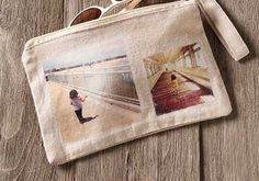 Make a customized wristlet with Mod Podge Photos Transfer.