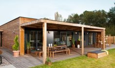 Container House - - Who Else Wants Simple Step-By-Step Plans To Design And Build A Container Home From Scratch? Shed Plans, House Plans, Casas Containers, Building A Container Home, Prefabricated Houses, House In The Woods, Simple House, Cabana, Home Deco