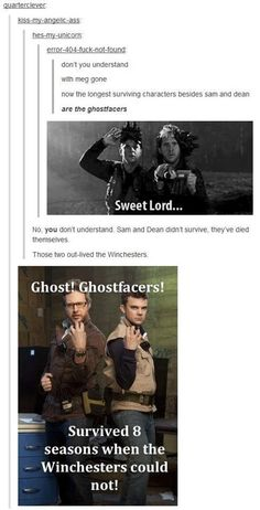 Ghostfacers: The Longest Surviving SPN Characters...what does this say about the writers? ;)