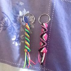 Look what I made  Plastic lace keyrings Plastic Lace, Look What I Made, Personalized Items