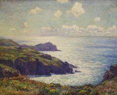 """""""England's Shores,"""" Wilson Irvine, oil on canvas, 29 x 36"""", Abby M. Taylor Fine Art."""