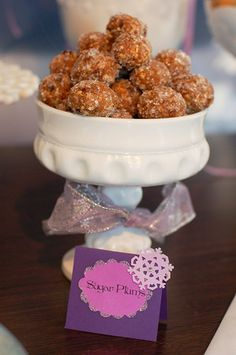 Looking for a special treat to include in those cookie trays?  How about authentic sugar plums?  (They're no-bake, too!)