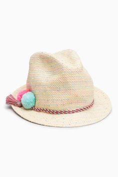 Slamené  - Slamený klobúk typu Trilby (Mladšie dievčatá)