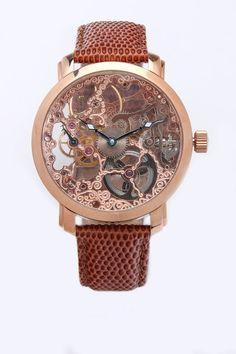 Davinci Mechanical Skeleton Watch via jackthreads #Watch #Mechanical #Skeleton