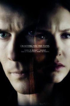 """I'm setting you free Elena"" - Damon 4x09"