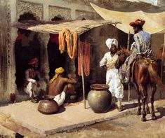 Ancient Moorish Paintings ~ Outside An Indian Dye House