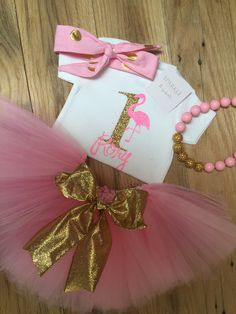 Pink Flamingo Birthday Outfit/ Flamingo Birthday by BespokedCo